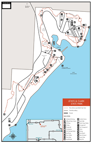 Lewis & Clark State Park | North Dakota Parks and Recreation on map of north georgia campgrounds, map of north dakota casinos, map of north dakota airports,